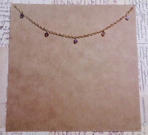 / About sold / Princess #Copious Royal Series-Swarovski necklace - gradient purple