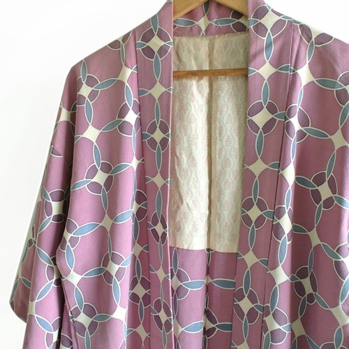│Slowly│ Japanese antiques - light kimono coat E1│ .vintage retro vintage art...