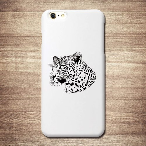 [Leopard] white shell commodity tattoo - iPhone Tattoo Phone Case large tail rogue