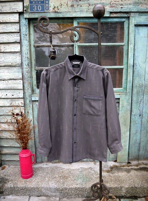 National totem washed wool shirt