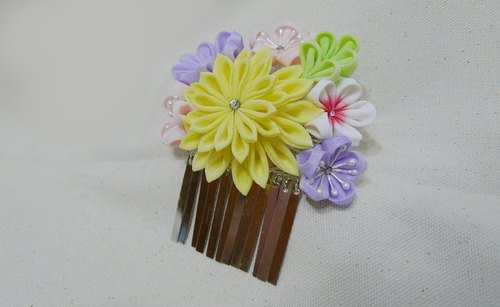 [If Sang] colorful fine-days late zu ma cloths flower hairpin geisha / maiko flower hairpin / kimono hair accessories