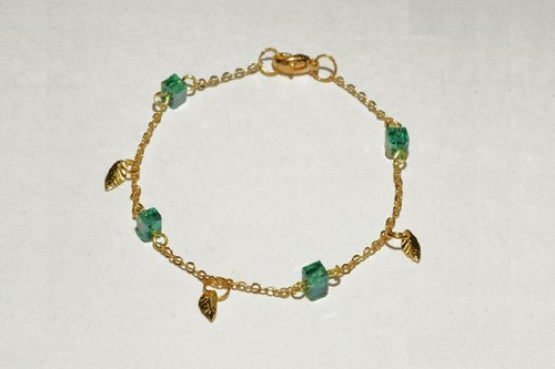[Littlest Things] Chloris series green crystal bracelet
