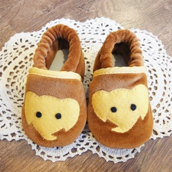 plush baby shoes - Mr. Elephant