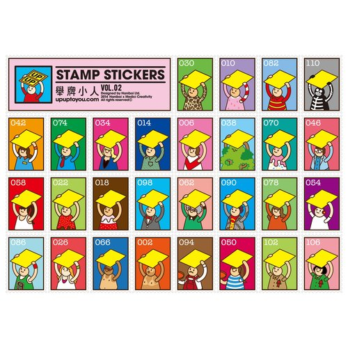 [Variety] UPUP placards villain dress shape stamp sticker Vol.2
