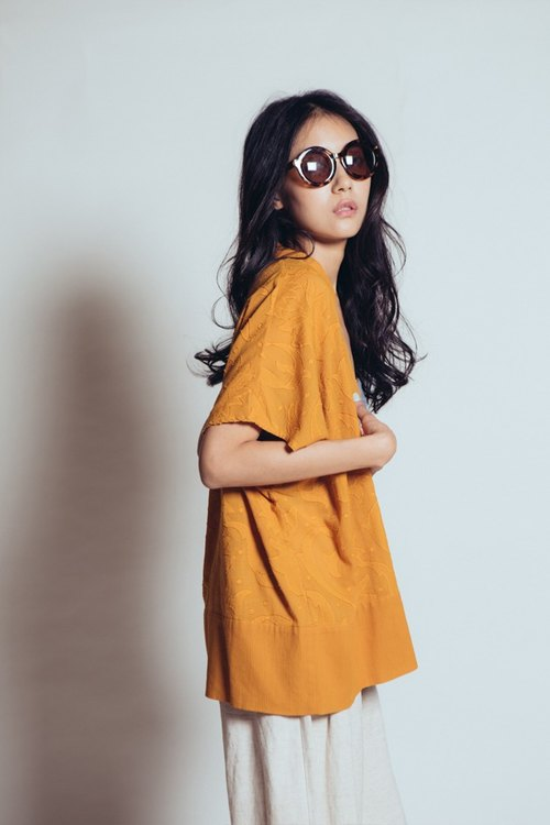 A Midsummer Night jacquard blouse (Orange)