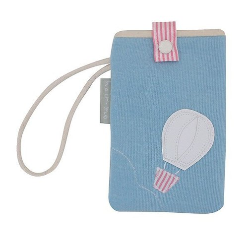 hairmo. Hot Air Balloon Mobile Phone / iPhone bag - blue