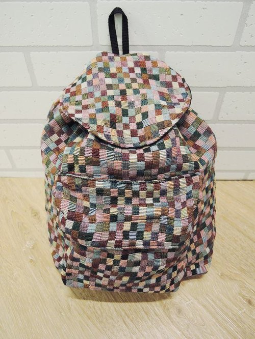 After the national wind backpack (small) checkerboard geometry