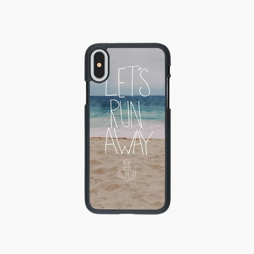 SpaceCase - Phone Case - Let's Run Away - Sandy Beach