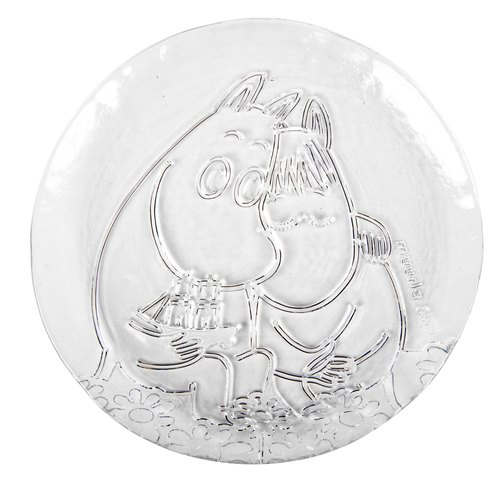 Finnish Moomin Moomin handmade glass dish (Moomin Love Version) Valentine gift exchange