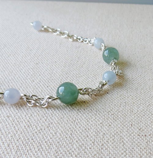 "[Opium poppy ﹝ Love ‧] silver chain ﹞ ********* fashion ""Lucky Love"" emerald green lake ice kind of jade bracelet Lucky *** yo!"