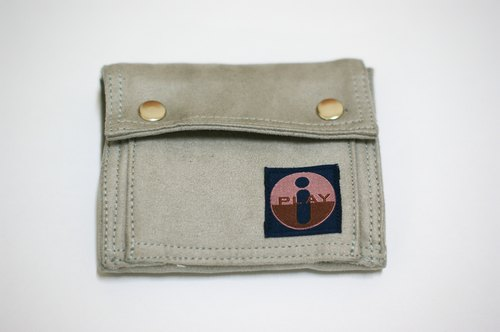 Simple texture wallet (handmade) - grayish trademark has been registered