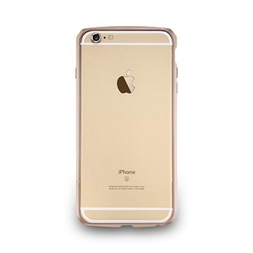 iPhone6 ​​/ 6s- Carbon grain aluminum protective frame - Rose Gold