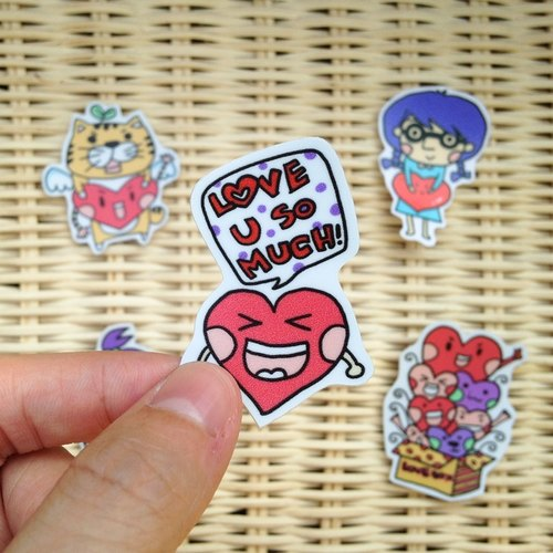 LeeP painted sticker - I love you LOVE