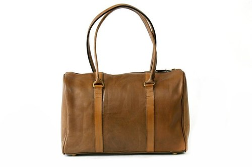 Bella Vista classic caramel leather bag