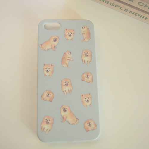 Pomeranian Case in Blue for iPhone 5/5s, 4/4s