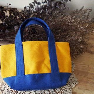 Classic tote bag Ssize sunflower x snorkel blue - sunflower yellow x deep sea blue -