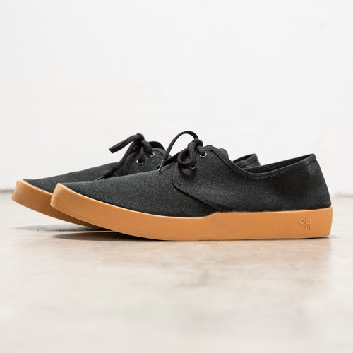 OLI13 Derby DERBY- black canvas shoes toffee │ M
