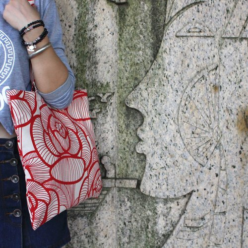 Wedding cotton cloth shoulder bag canvas bag