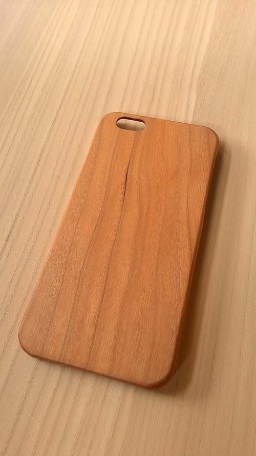 Micro forest. iPhone 6 pure wood Wooden Phone Case - Cherry -BB05-U1010 mobile phone holder wooden gifts