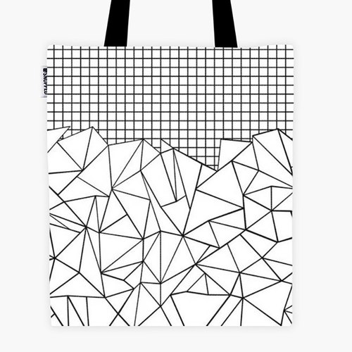 Filament - Canvas Bag - Abstract Outline Grid