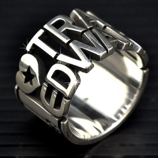 Customized .925 sterling silver jewelry RCODE00002- barcode Barcode Ring Ring