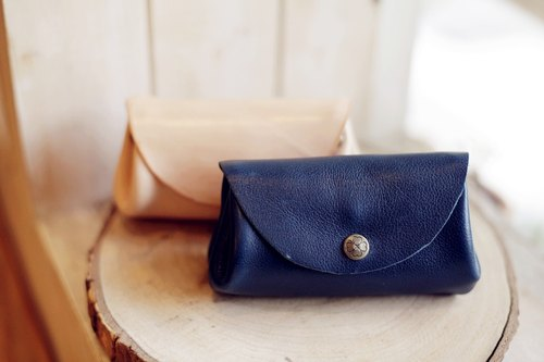 [Good day] three hand-made leather purse bottom compartment Peng Peng