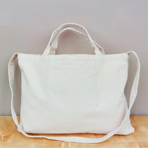 Wide canvas bag │ let you go sideways holding the backside of the back are easy