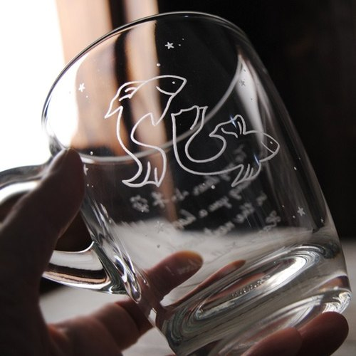 320cc [Pisces constellation Pisces starry sky mug lettering birthday gift Valentine's Day 12 constellations custom