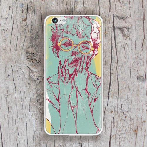 ▷ Umade ◀ THE MOOD─ despair [iPhone mobile phone shell / accessories (i6, i6s, i6plus, i6splus, i6 +) - interchangeable backplate -Umade Sparkling TPU double-slim metal frame glossy hard shell - Gifts - boys and girls - artists] Liu Yi its 61Chi