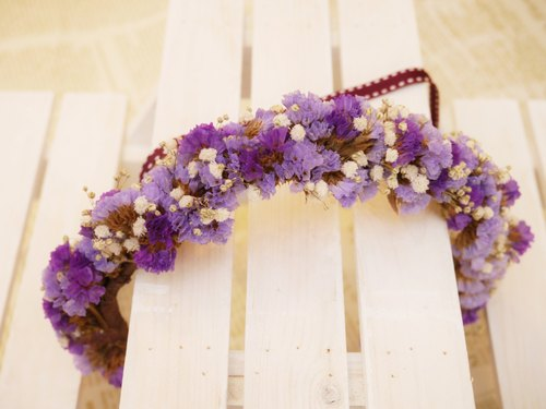 [Hydrangea Studio] ZAKKA handmade purple romance stars wedding photography dried wreath garland crown molding