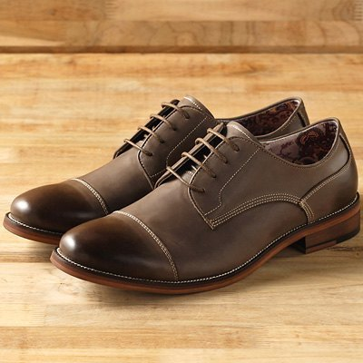 Vanger US-‧ understated elegance DianShang retro Derby ║Va106 understated gray meters