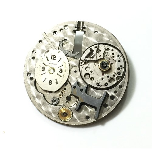 Steampunk steam punk style brooch cat pocket watch movement