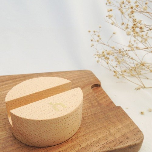 Phone sit │hoomia good texture │ beech wood. Mobile Phone Holder / Card Holders