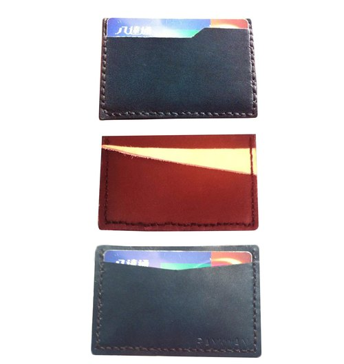 [LEDERT] handmade leather Card Holder | Credit Card | Card | Transportation Card