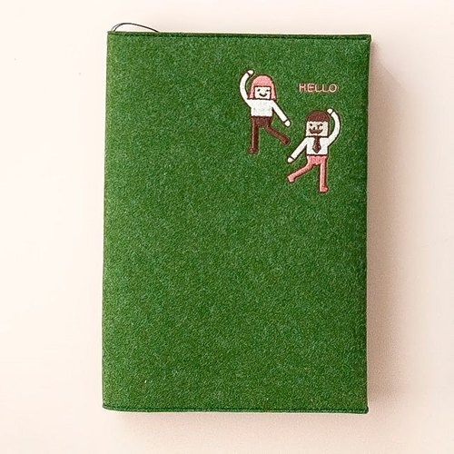 Dessin x Jstory- PDA calendar -Hello embroidered felt no aging Zhou - grass green, JST31287