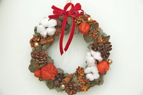 [Hydrangea Studio] ZAKKA hand-made Christmas wreaths for rural air drying outdoor photo props home layout store decorations