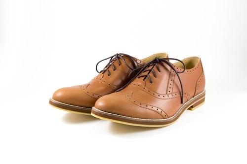 LANEY/Simba Tan Waxy Leather/Oxford Shoes