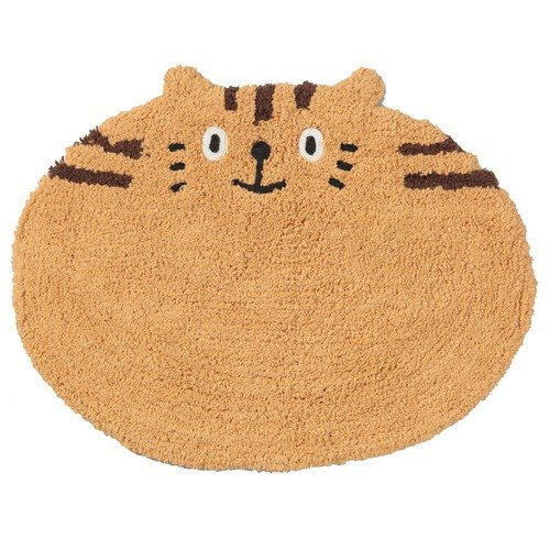 Tabby Coffee striped kitten styling mat
