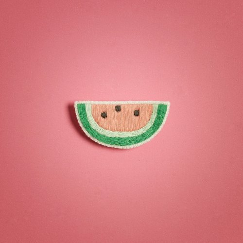 Watermelon brooch / watermelon brooch