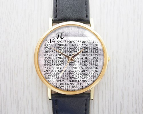 Mathematics pi ︱π︱3.14 - Fashion Watch leather strap ︱ ︱ ︱ men and popular pieces to wear with the best holiday gift