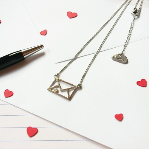 Love letter necklace, alternative heart necklace