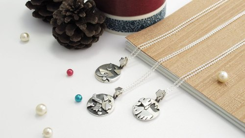 ART64 manual design silverware ~ Happy Christmas - abstract Christmas necklace Christmas gift