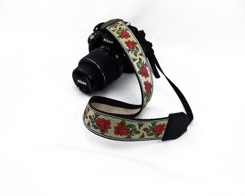Camera strap can print personalized custom leather stitching national wind embroidery pattern 006