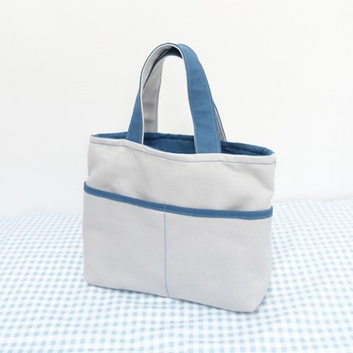 Color handbag. Blue
