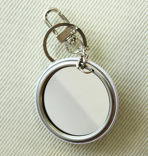 LOVE TAIWAN-Stainless Steel mirror key ring