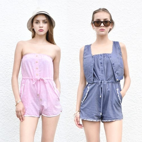 7crash-翻蓋平口連身休息褲 Smart Casual Pocket Playsuit