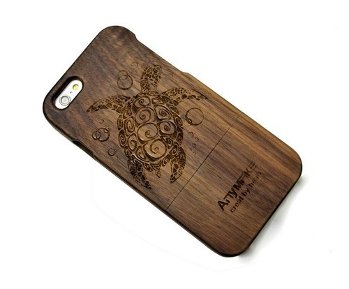Customized pure wood iPhone mobile phone shell, made of solid wood, Samsung Samsung Phone Case, iPhone 6s / 6s plus / 6 / 6plus / 5s / 5 / 5c / 4 / 4s mobile phone shell, Samsung Samsung galaxy S6 / Note4 / Note3 / S5 / S4 phone shell, creative gifts, turt