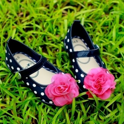 No. 14 Mia Pretty pink flower doll shoes (zero code specials, only accept the return)