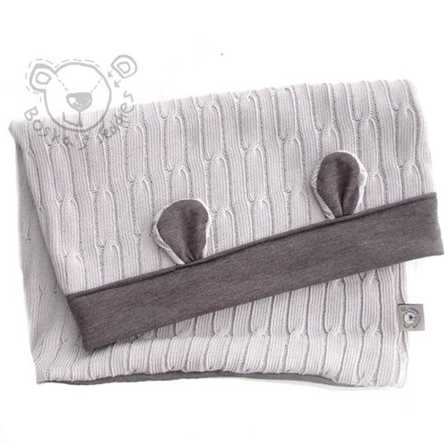 [European] system Boska's Teddies hat around - adult style (gray / gray)