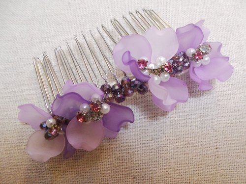 Wear mind ornaments - flower gesture L series Brush (Purple)